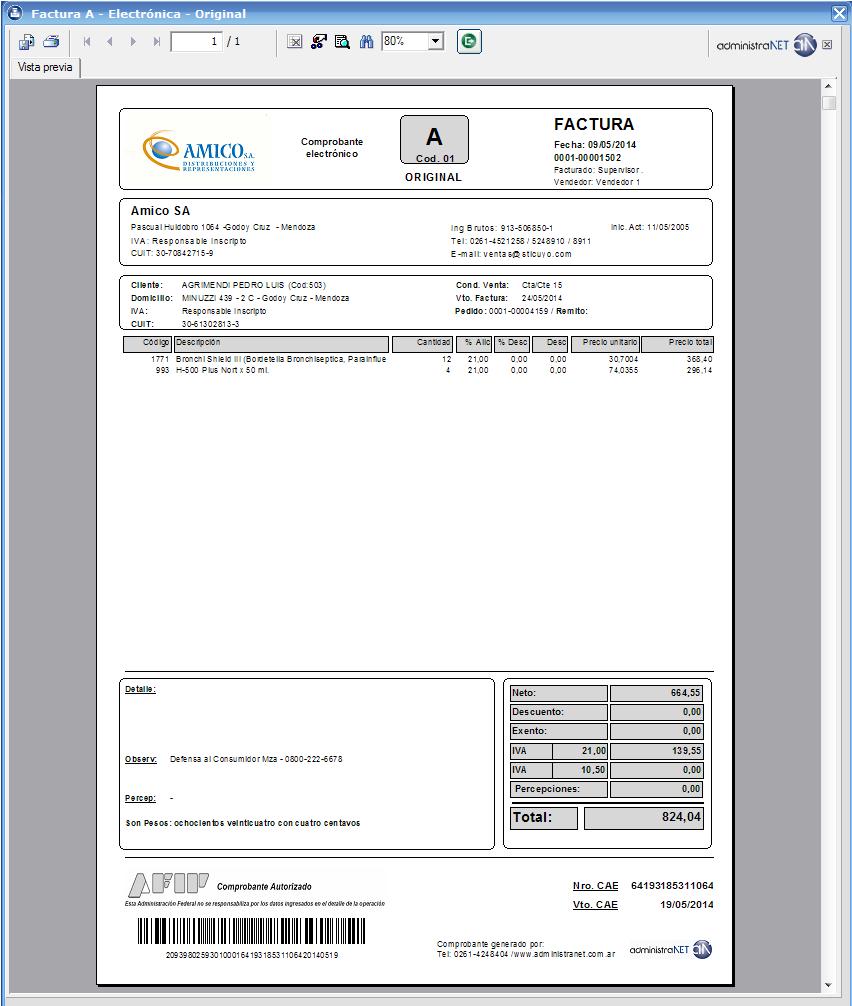 administraNET - Software de facturacion y stock gratis | Factura ...