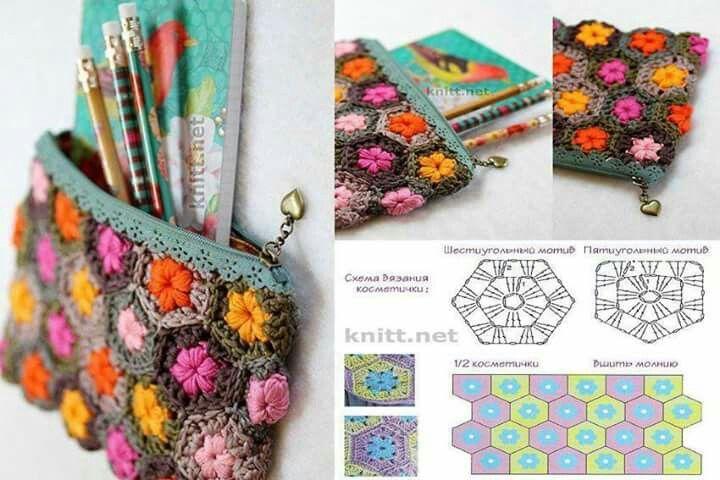 Porta lapices con patron   Solo patrones crochet y dos agujas ...