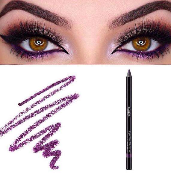 Purple eyeliner trend - makeup trend