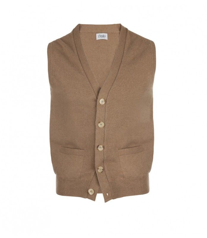 Natural Camel Hair Sleeveless Cardigan | Natural, Cardigans and Hair