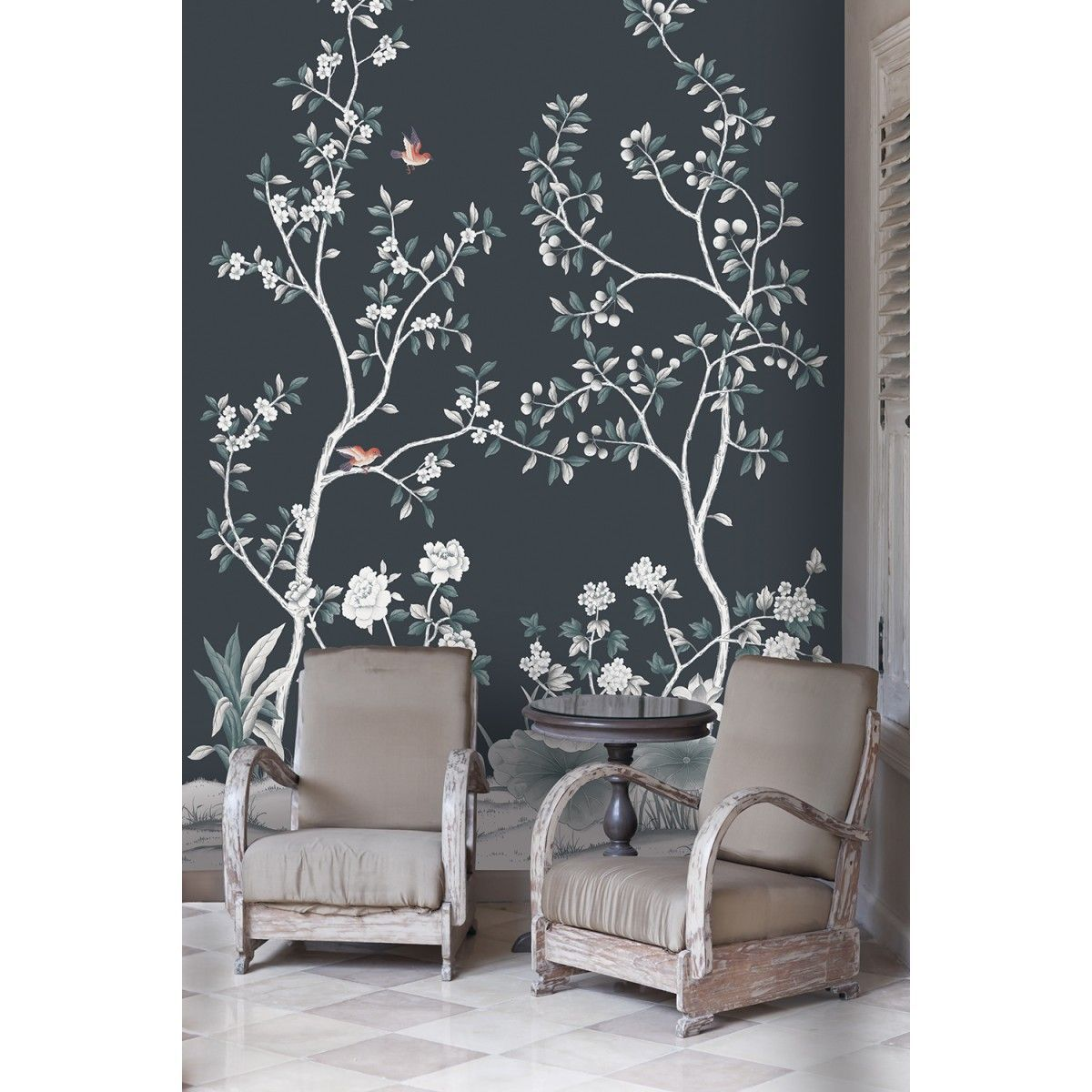 LILLY Tempaper Designs Accent walls in living room
