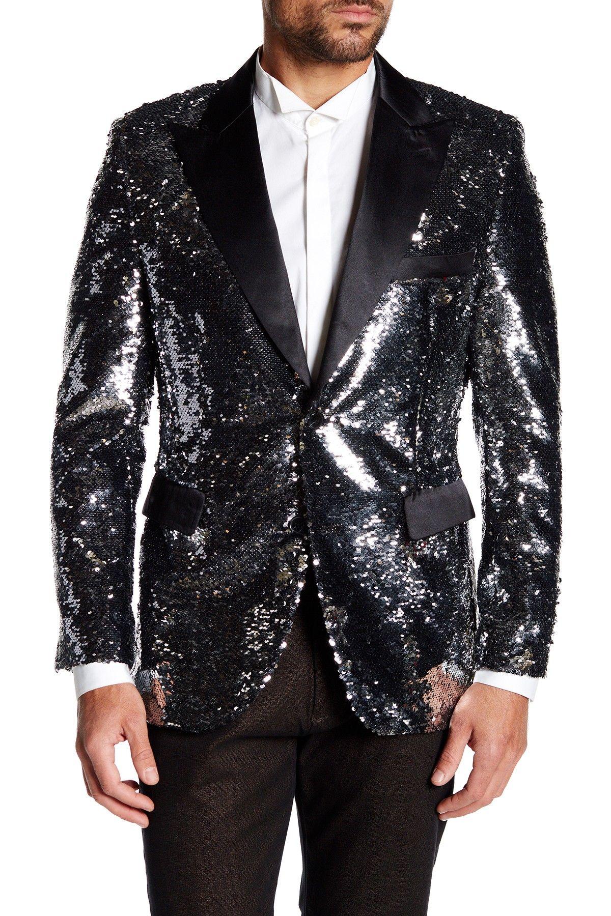 TR Premium | Reversible Sequin Slim Fit Blazer | Products ...