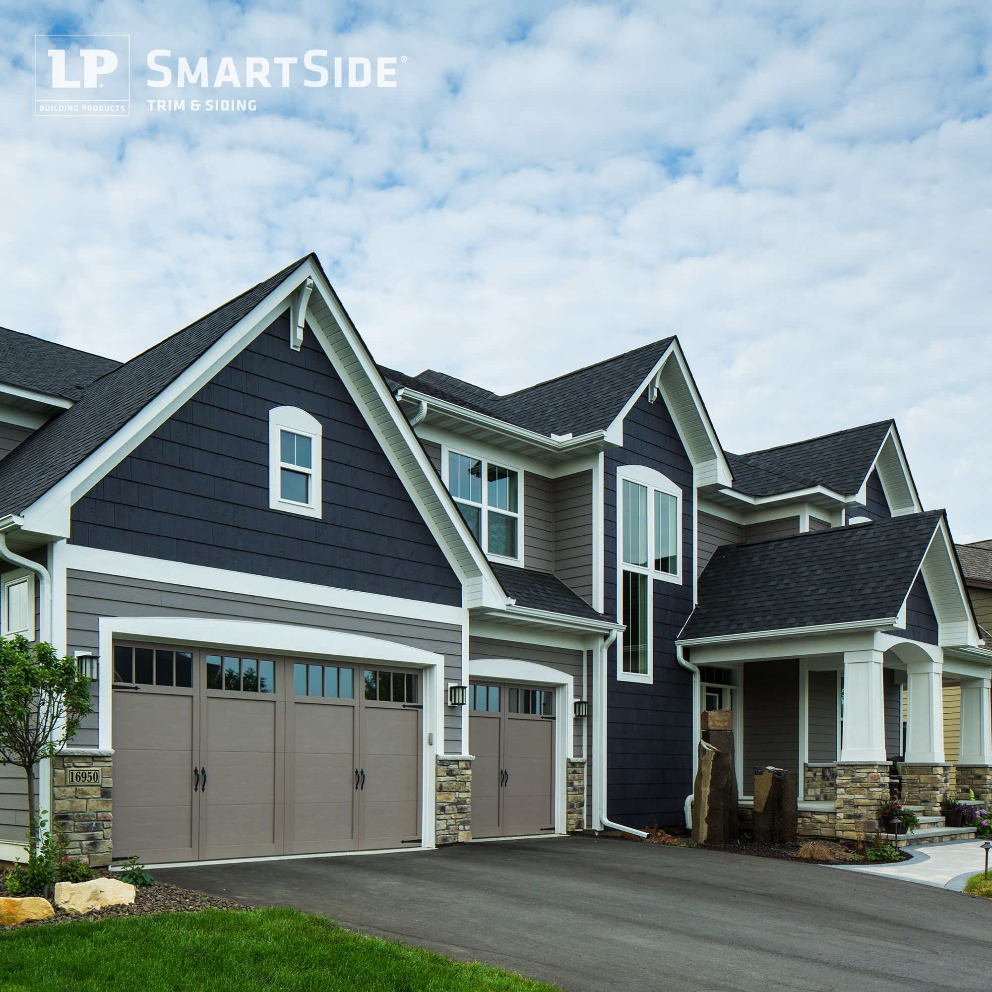 Clever combination of lp smartside lap siding and cedar for Homes with wood siding