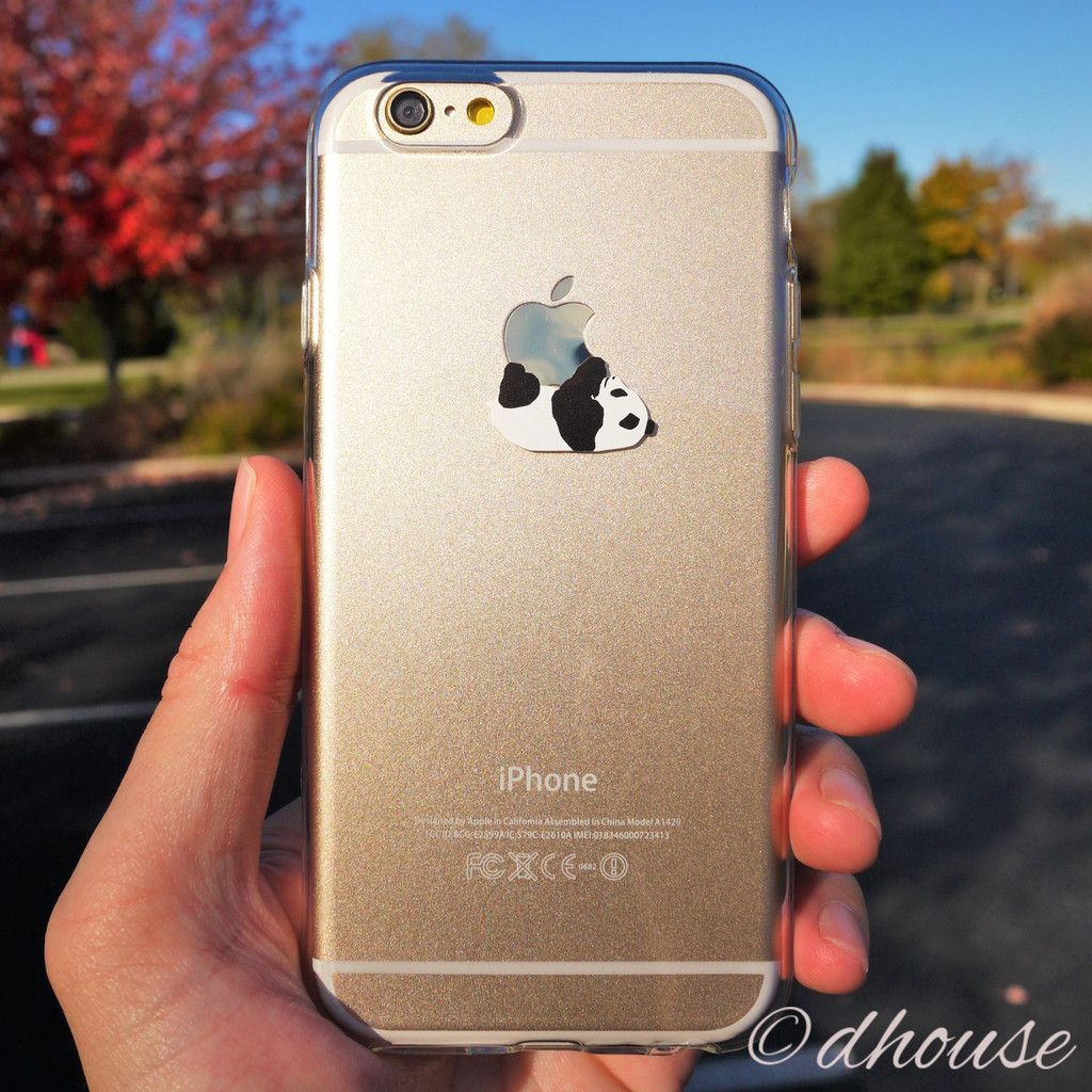 MADE IN JAPAN Soft Clear TPU Case Panda Crawling design for iPhone 6   iPhone  6s 83539d1c161fa