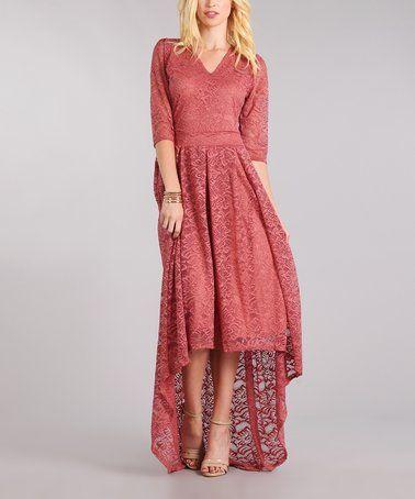 039ba3e4d35 Pink Lace-Overlay Hi-Low Victorian Romance Dress | Fashionista ...