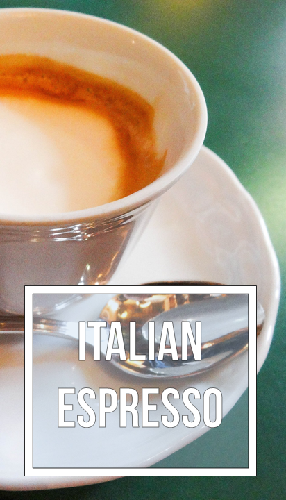 Nothing beats espresso in an Italian cafe.
