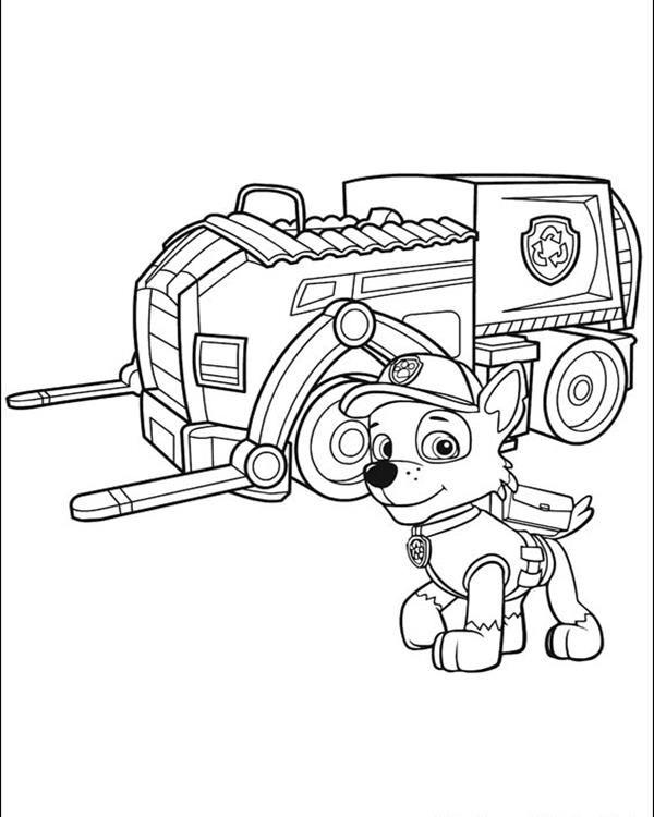 Coloring Pages Paw Patrol Rocky : Rocky and his recycling truck paw patrol coloring pages
