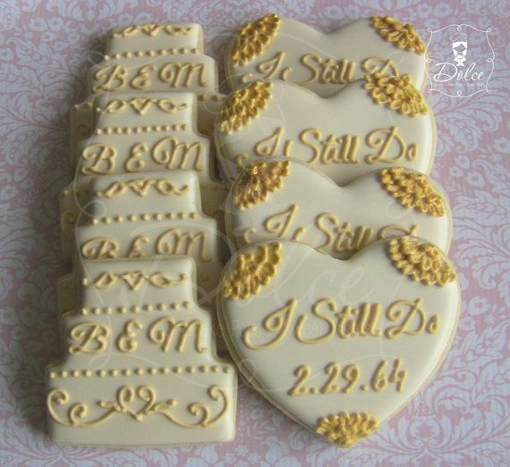 ... wedding anniversary Pinterest 50th anniversary cookies, Sugar