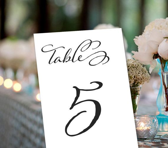 Table Numbers Set of 10 Wedding Events by weddingfusion on Etsy, $25.00