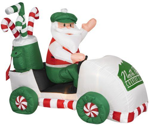 Gemmy 1016800 Airblown Inflatable - Santa in a Golf Cart - inflatable outdoor christmas decorations