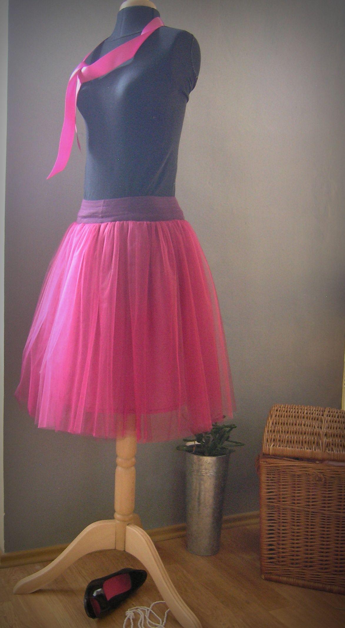 cyklamen.. tylová sukně na přání Dlouhá tylová sukně. 5 vrstev tylu  kombinace několika 22437c8bd5