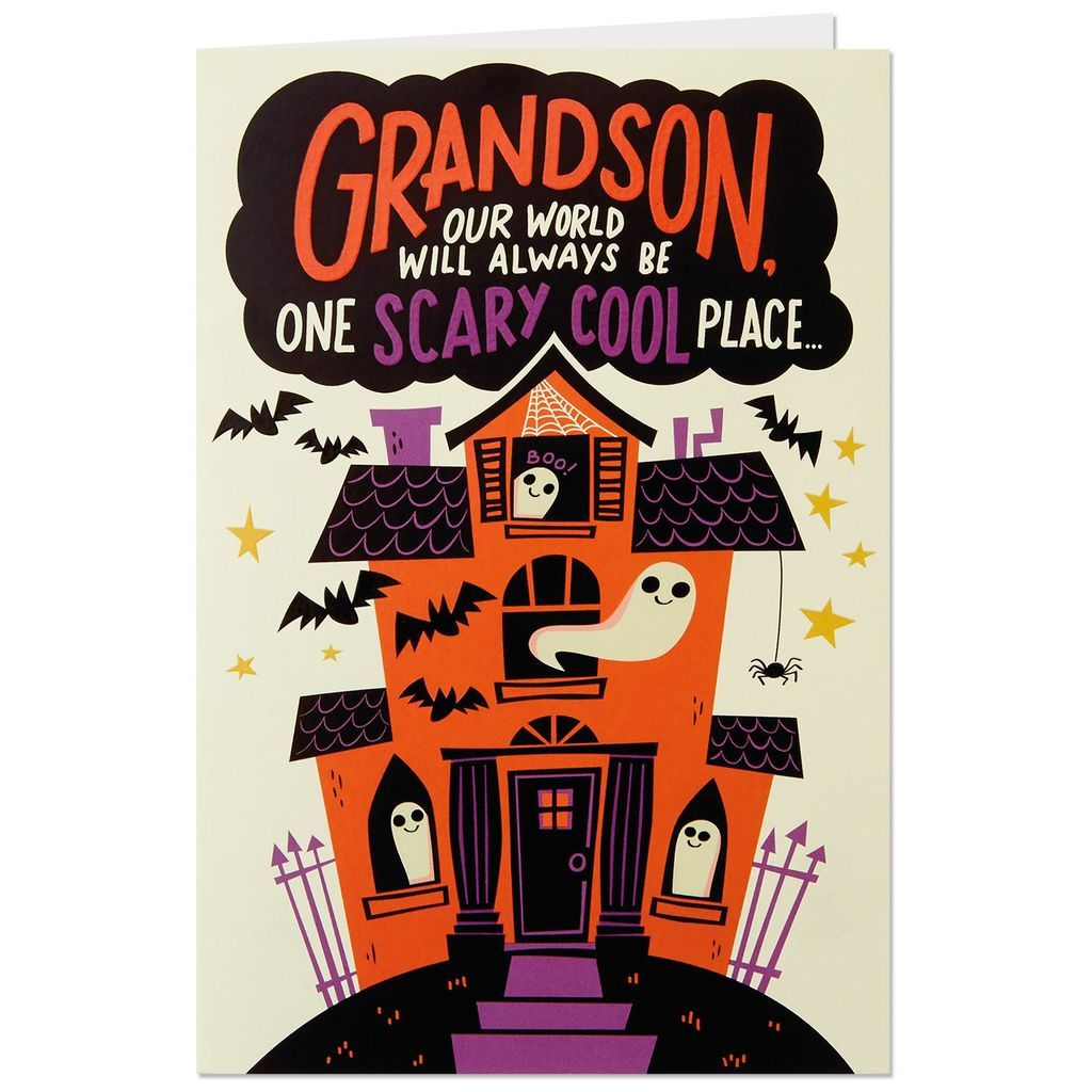 Haunted House Pop Up Halloween Card for Grandson
