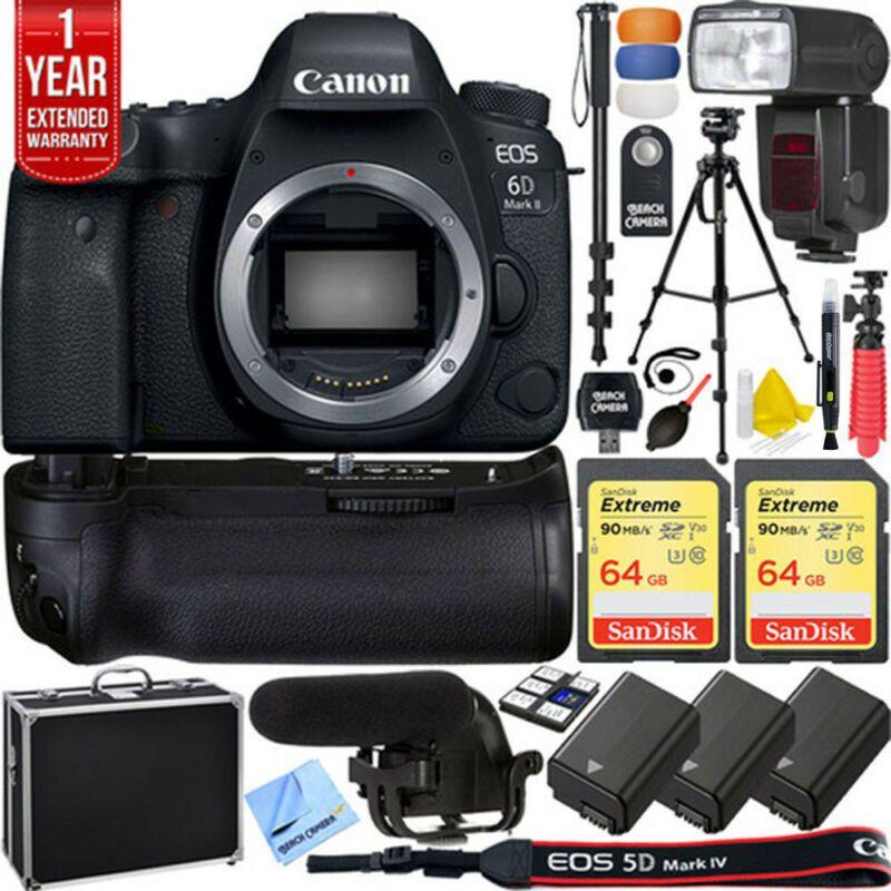 Canon 6d Mark Ii Full Frame Eos Dslr Camera Pro Memory Power