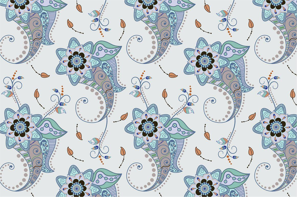 2 Floral Seamless patterns by Sunny_Lion on @creativemarket
