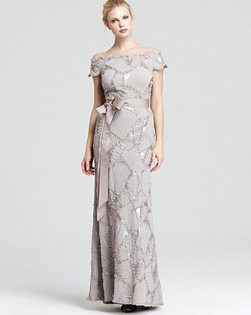 Tadashi Shoji Off The Shoulder Gown Bloomingdale S Mother Of The