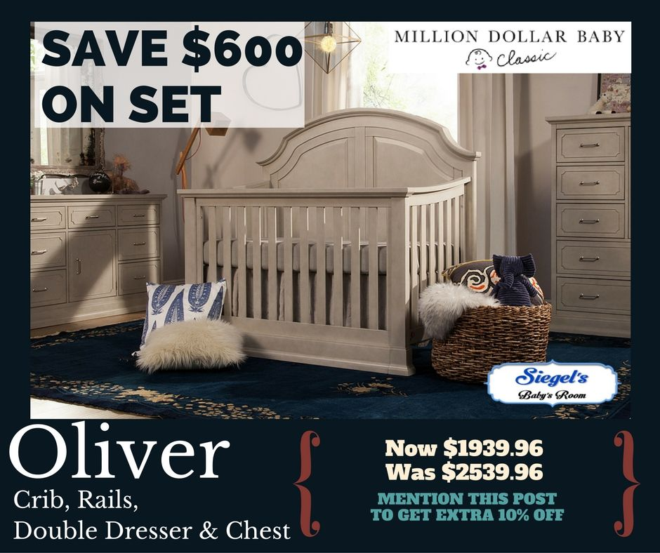 Mention this post to receive 10% off the Oliver Crib, Dresser, Chest ...