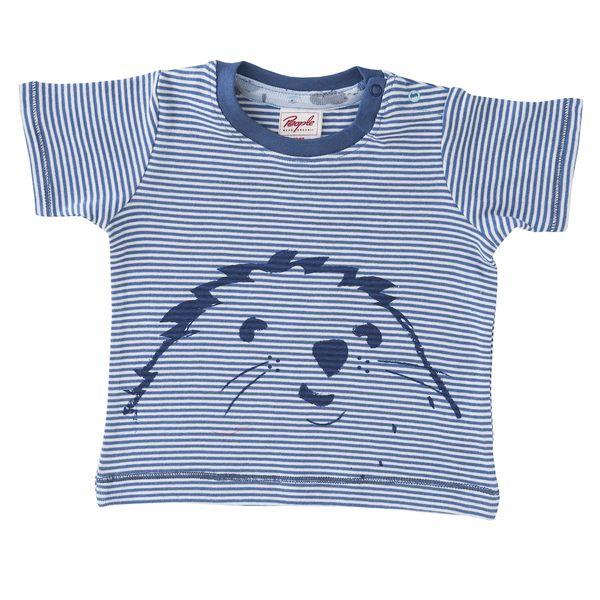 People Wear Organic – Baby u. Kinder Kurzarmshirt rot u. blau geringelt ökologisch People Wear Organic | Avocadostore