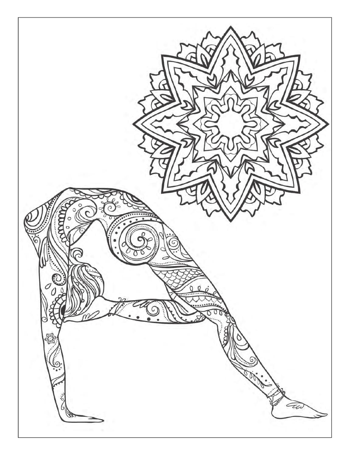 Yoga And Meditation Coloring Book For Adults With Yoga Poses And Mandalas
