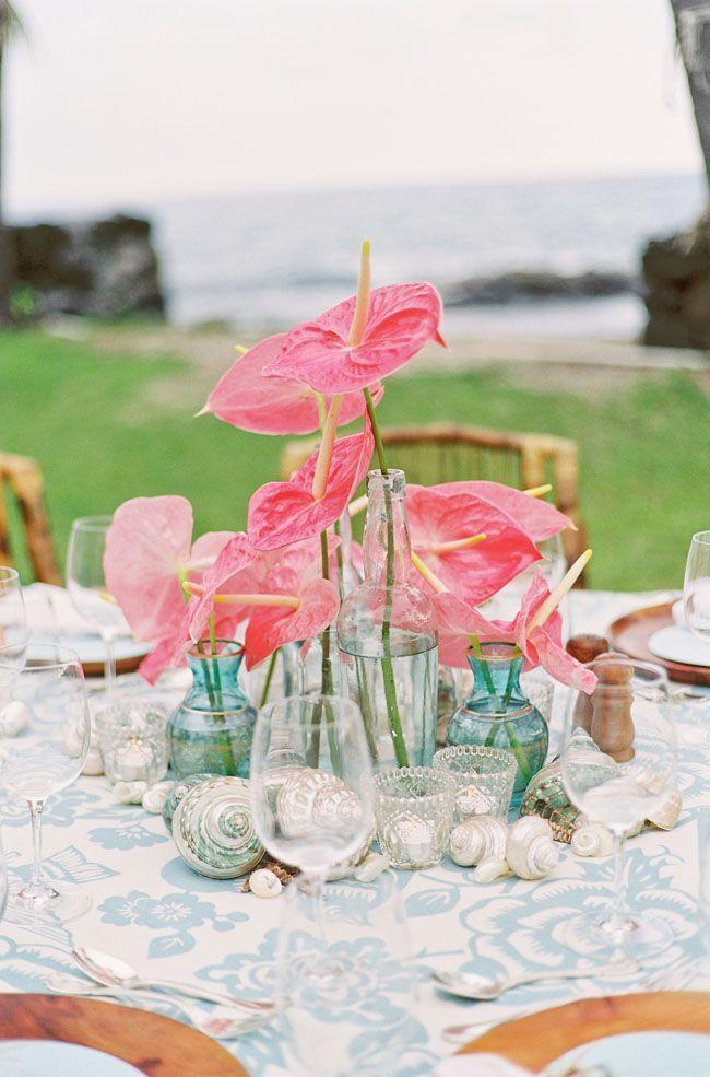 Hawaiian Rehearsal Dinner Floral Inspiration Pinterest Wedding
