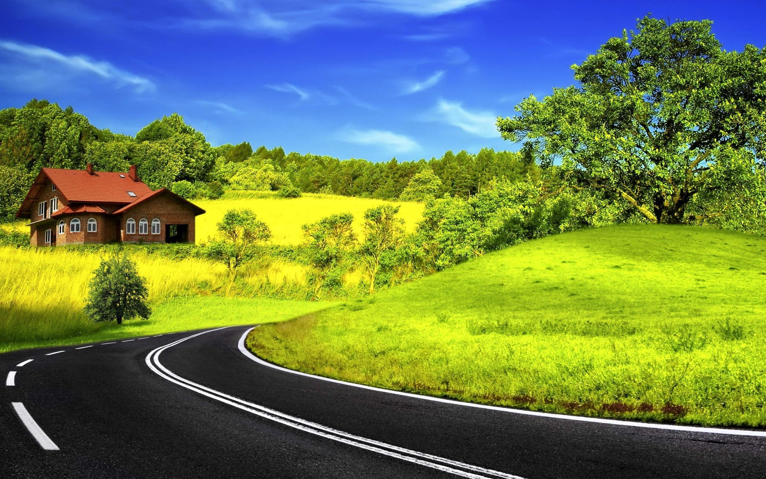 Hd Road Wallpaper Nature Wallpaper Forest Cottage Amazing Nature
