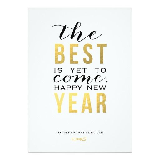the best is yet to come new year photo card personalized invitation new years wedding