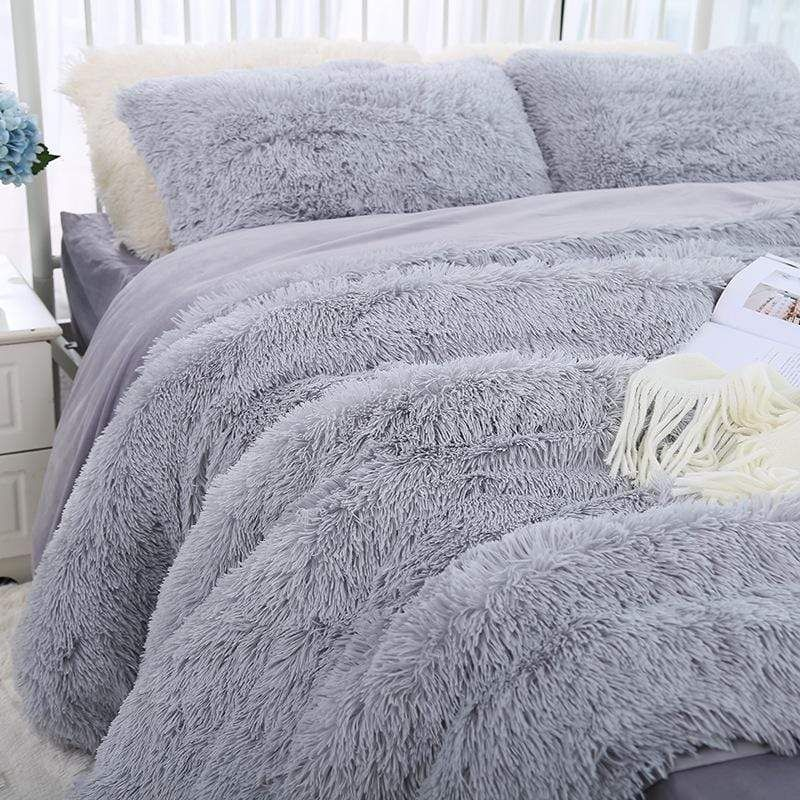 Fluffy Blanket With Pillow Cover 3 Pieces Set Cart Crate Fluffy Blankets Faux Fur Bedding Fluffy Bedding