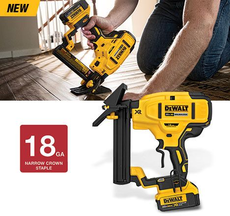Dewalt 20v Max Xr Cordless 18ga Flooring Stapler Tools Pinterest