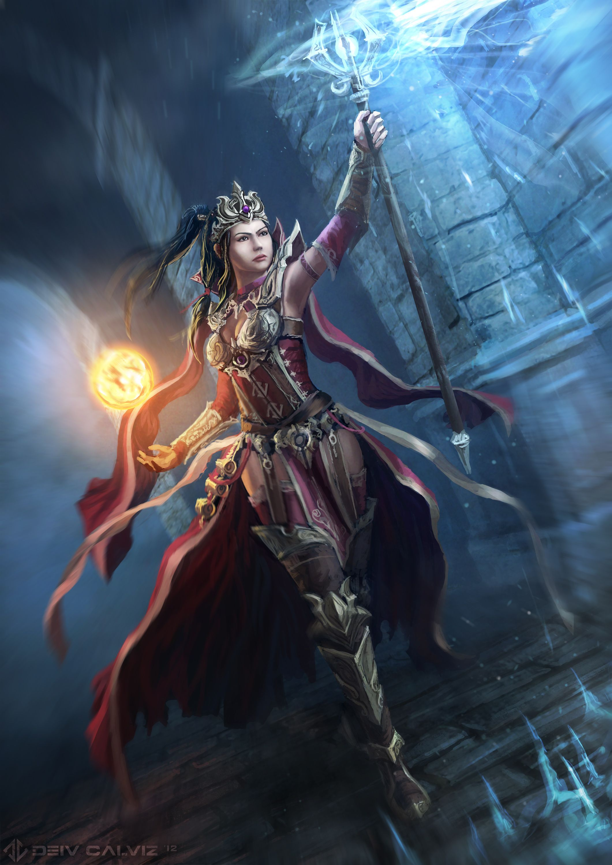 Diablo III character - wizard female 3d model 3dsMax files free ...