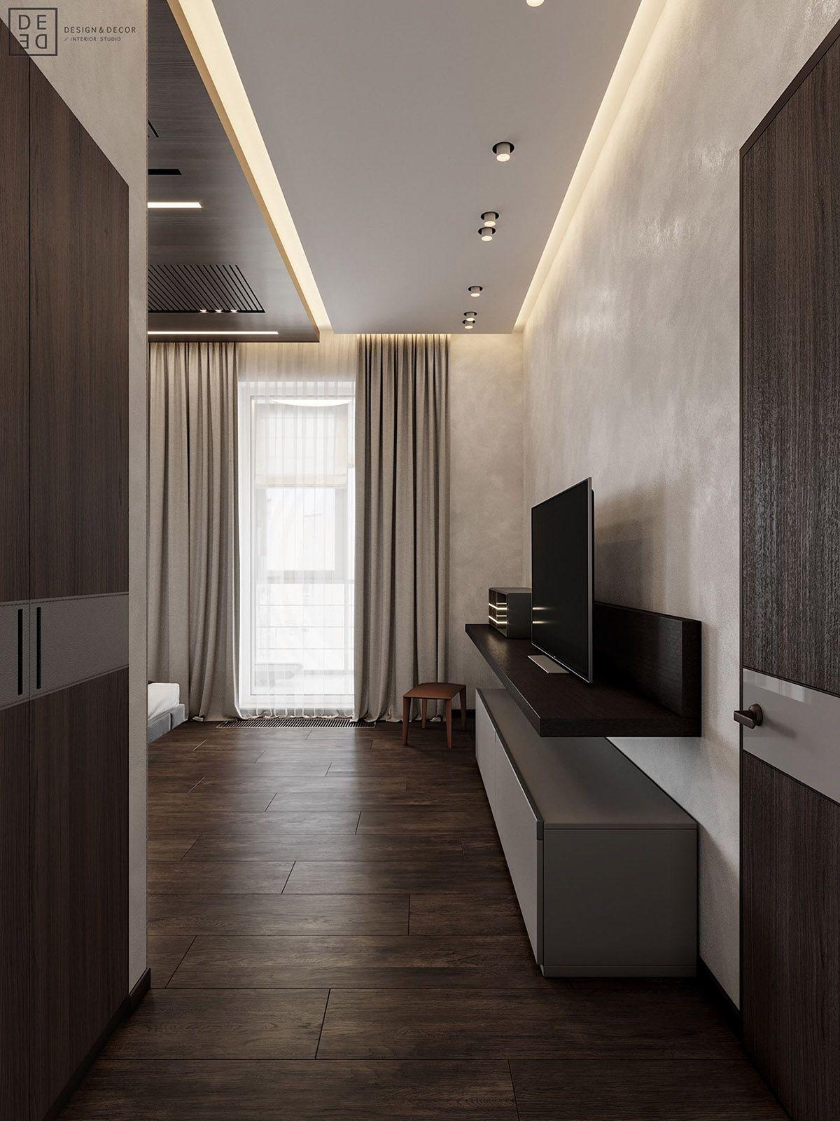 Luxurious Interior With Wood Slat Walls Floor design