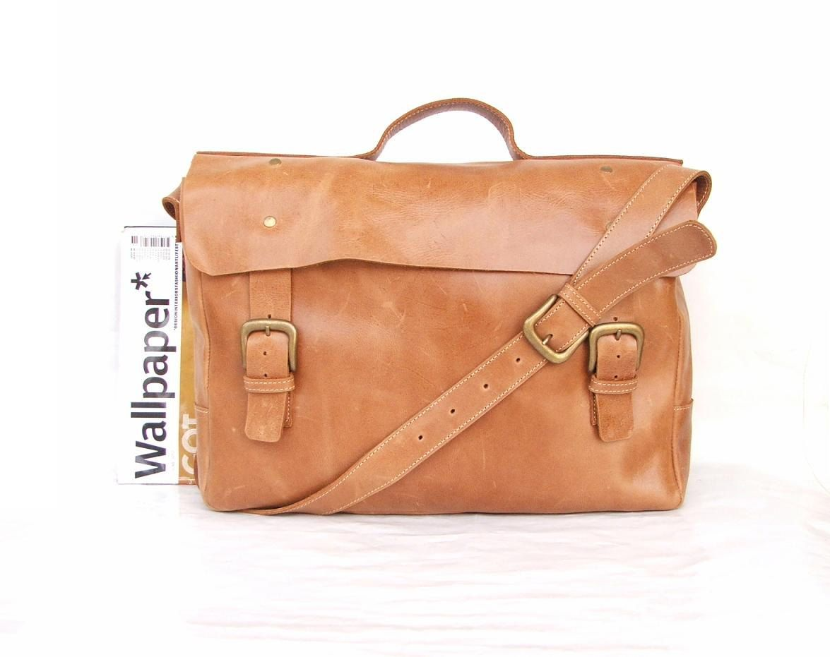 Macbook Pro Bag Messenger Bag Mens Women Light Brown Leather Brifcase Leather Handbag La Laptop Messenger Bag Women Leather Laptop Bag Laptop Messenger Bags
