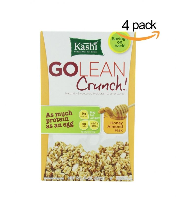 4-pack of Kashi GOLEAN Crunch! cereal, honey almond flax, 14oz @Amazon #breakfast #Kashi #GOLEAN #cereal #morning