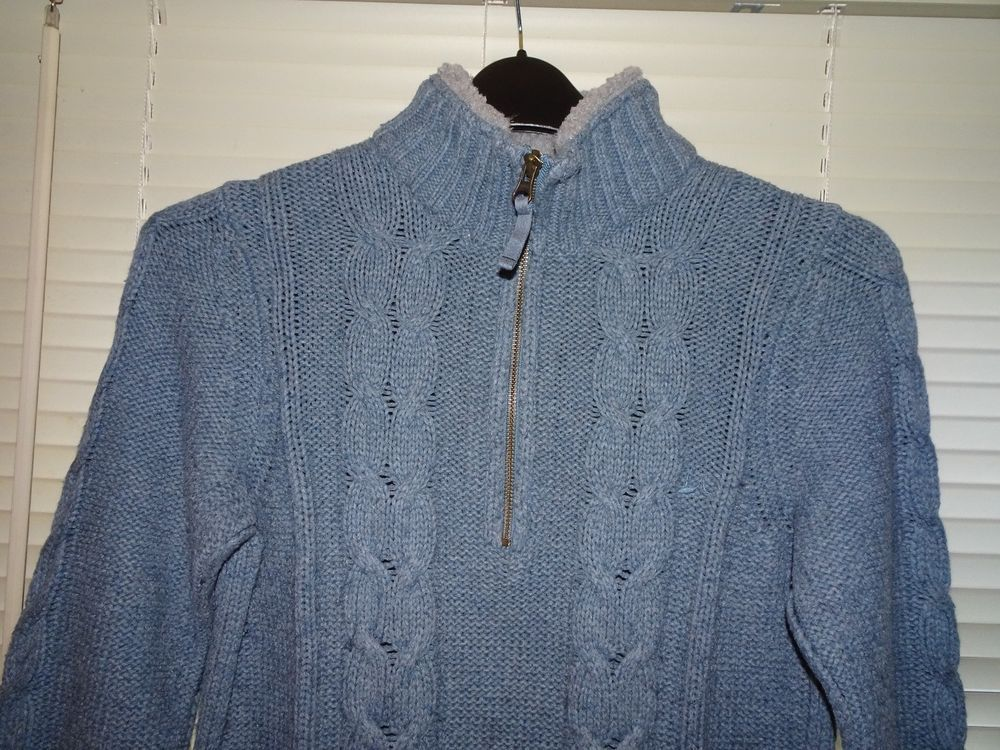 738e5f4aeb4d Mantaray Blue Jumper with Fleece Neckline Jumper Size 12 Good ...