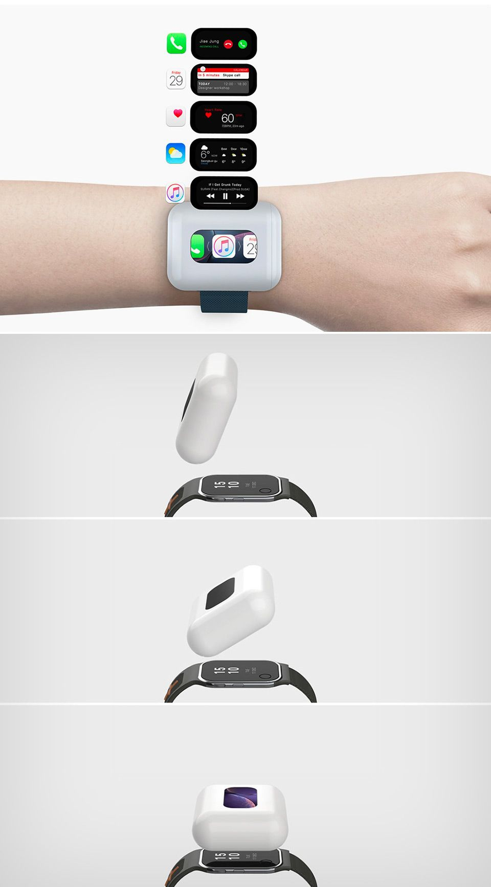 Bizarre AirWatch Concept Combines AirPods and the Apple