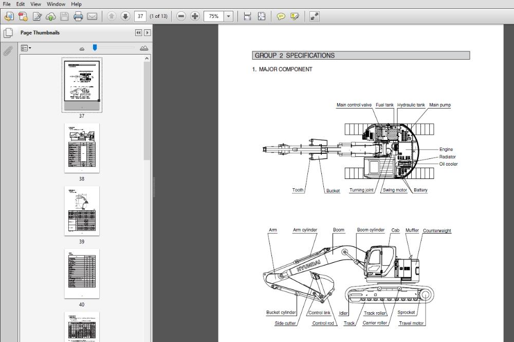 Hyundai R235lcr 9 Crawler Excavator Service Repair Manual In 2020 Repair Manuals Hyundai Hydraulic Systems