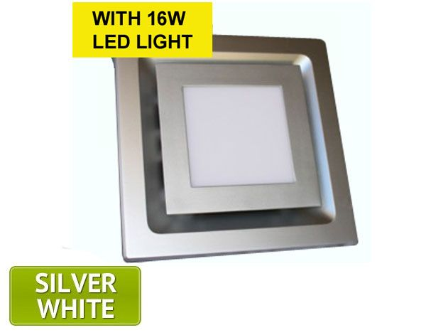 The Square Led Light Exhaust Fan Is A Modern Low Profile Ceiling Mounted Exhaust Fan With An Integrated Led Light Exhaust Fan Bathroom Vent Fan Modern Bathroom