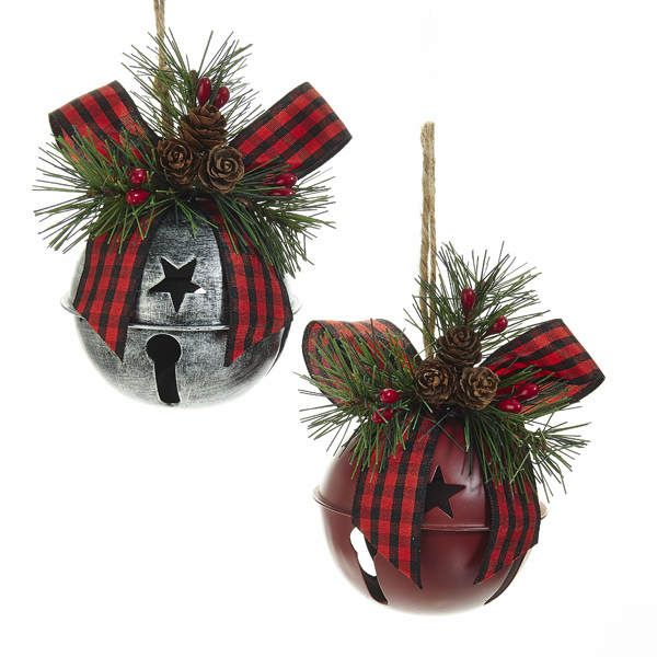 Silver/Red Jingle Bell Ornament in 2020   Diy christmas ornaments, Silver bells christmas
