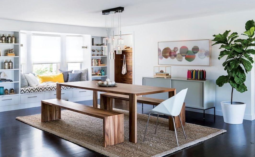 Modern étkező paddal | Dining interior, Dining room