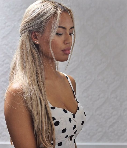 Gorgeous Stormy Blond Ask Us About Our Custom Color Shop At Www Hairfactory Com Dark Skin Blonde Hair Hair Styles Light Hair