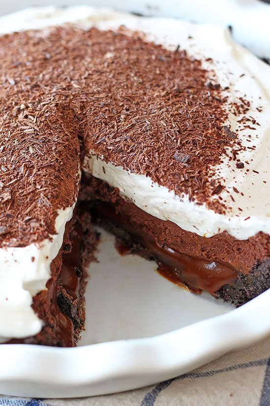 Chocolate Caramel French Silk Pie - just INCREDIBLE.