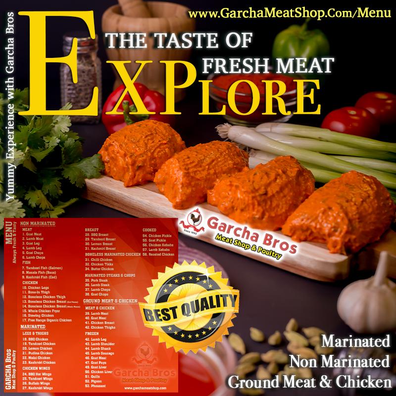 Best Takeaway Meat Menu Marinated Non Marinated Ground Meat Chicken Garchamenu Garchabrosmenu Garchabros Garchab Meat Shop Healthy Meats Meat