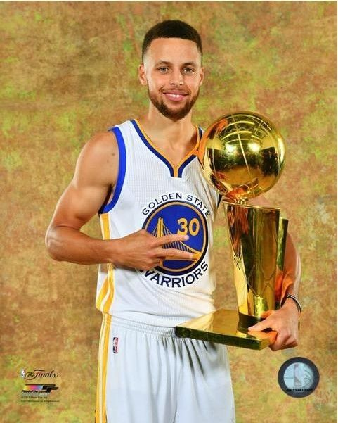 c2383cf5ca3e  7.49 - Stephen Curry Golden State Warriors 2017 Nba Finals Photo Uf001  (Size 8