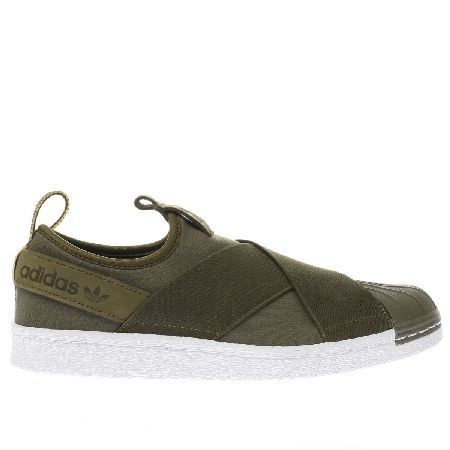 wholesale dealer 8b760 d47ee  Adidas khaki superstar slip-on trainers  Switch it up this season with the