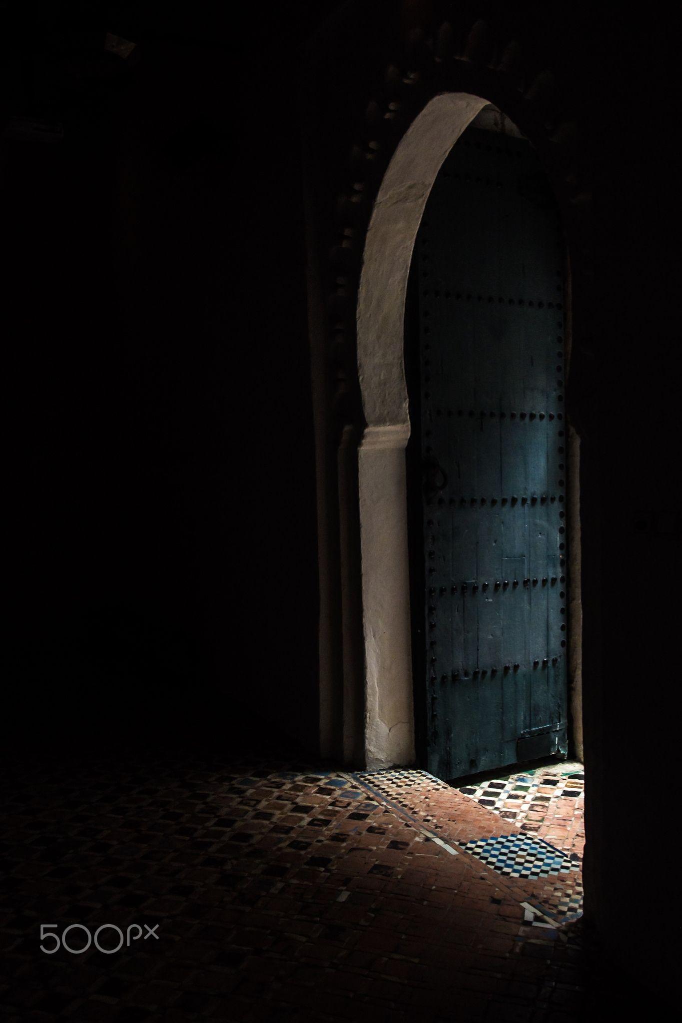 Kasbah - The front door of the Kasbah Museum in Tangier, Morocco