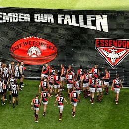 ANZAC DAY - Lest We Forget!  The Anzac Day blockbuster between Collingwood and Essendon has become one of our biggest national sporting events