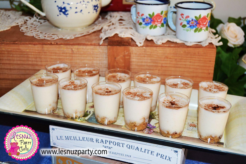 Shots de crema de arroz con leche Lesnuzparty