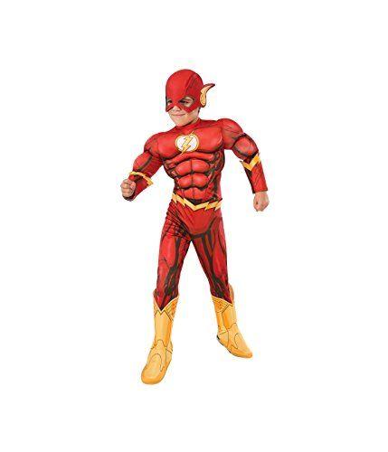 Rubies Costume DC Superheroes Flash Deluxe Child Costume