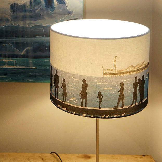 Seaside Art Print Lampshade | The high, Drums and Products:Brighton Pier print drum lampshade by Jacqueline Hammond smartdeco |  notonthehighstreet.com,Lighting