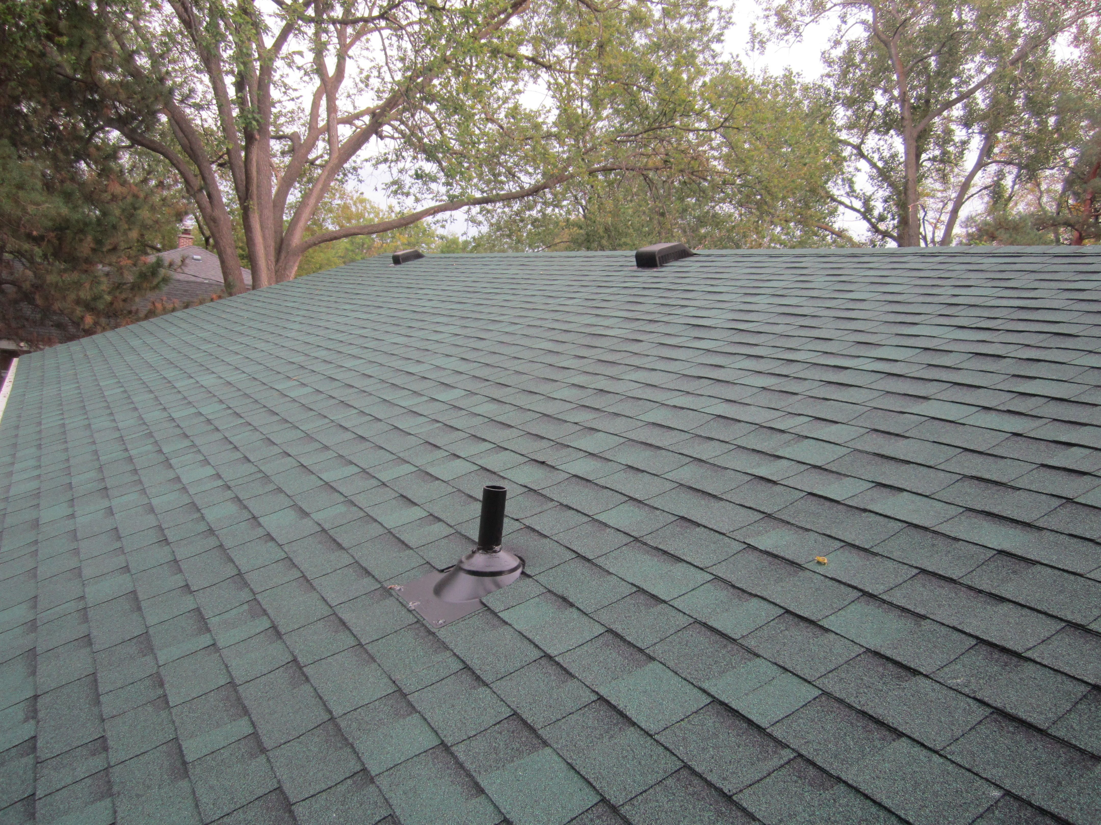 Asphalt Shingle Roof In Plymouth, MN, Owens Corning, Chateau Green Color