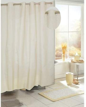 Carnation Home Fashions Ez On Peva Shower Curtain In Ivory