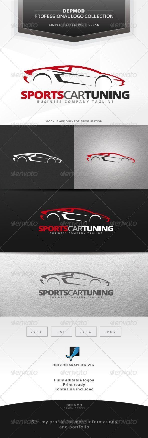 Sports Car Tuning Logo Design Template Vector logotype